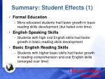 summary student effects 1
