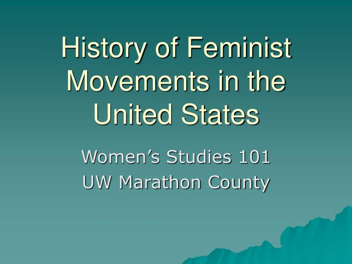 history of feminist movements in the united states n.
