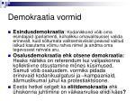 demokraatia vormid