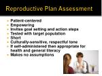 reproductive plan assessment1