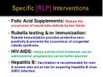 specific rlp interventions