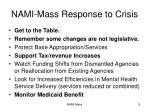 nami mass response to crisis