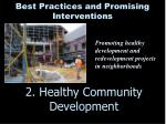 2 healthy community development