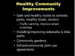 healthy community improvements