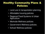healthy community plans policies
