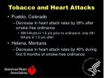 tobacco and heart attacks