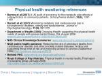 physical health monitoring references