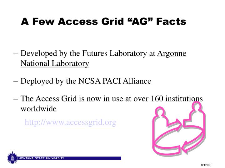 "A Few Access Grid ""AG"" Facts"