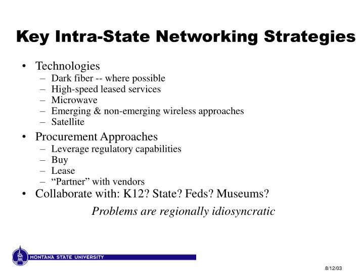 Key Intra-State Networking Strategies
