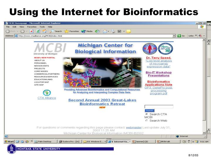 Using the Internet for Bioinformatics