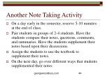 another note taking activity