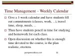 time management weekly calendar
