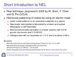short introduction to nel