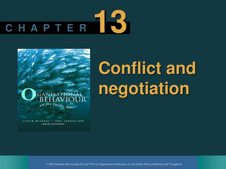 conflict and negotiation n.