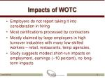 impacts of wotc