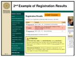 2 nd example of registration results