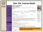 gen ed course detail