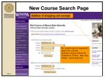 new course search page