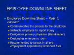 employee downline sheet