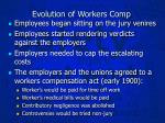 evolution of workers comp1