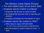 the workers comp claims process