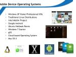 mobile device operating systems