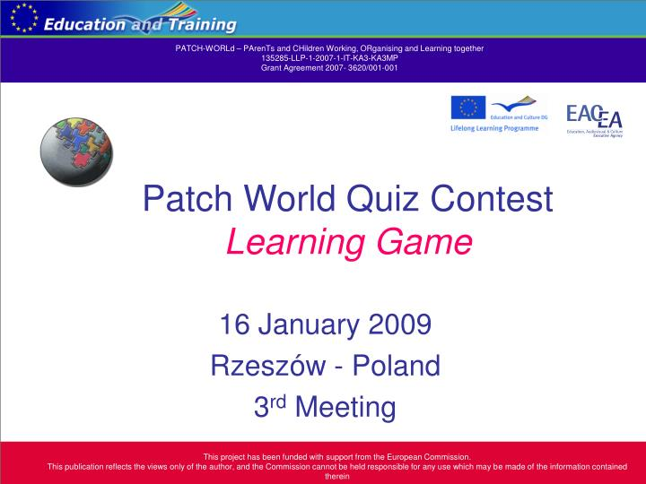 patch world quiz contest learning game n.