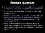 example questions1