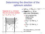 determining the direction of the optimum solution
