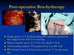 post operative brachytherapy