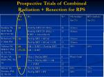 prospective trials of combined radiation resection for rps