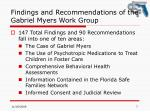 findings and recommendations of the gabriel myers work group