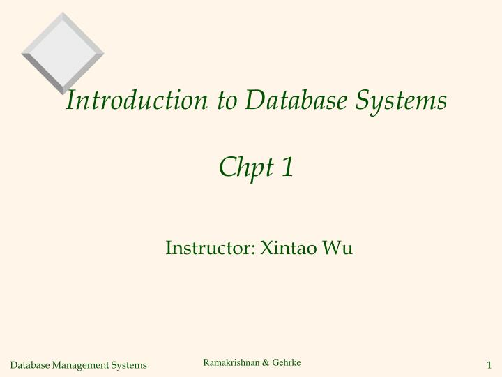 introduction to database systems chpt 1 n.
