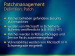 patchmanagement definition patch