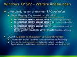 windows xp sp2 weitere nderungen