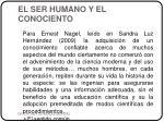 el ser humano y el conociento2