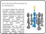 inicio del desarrollo eficiente de la investigaci n1