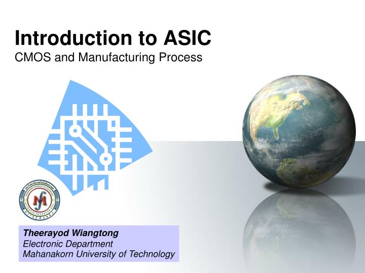 introduction to asic cmos and manufacturing process n.