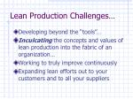 lean production challenges