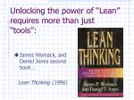 unlocking the power of lean requires more than just tools