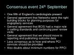consensus event 24 th september