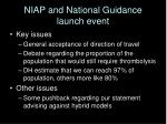 niap and national guidance launch event
