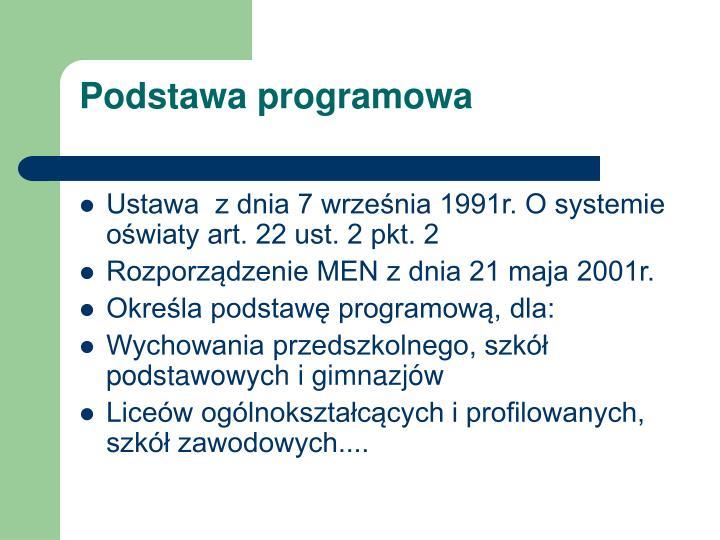podstawa programowa n.