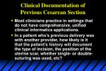 clinical documentation of previous cesarean section