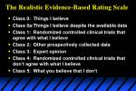 the realistic evidence based rating scale