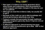 why ebp