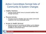 action committees formed lists of community system changes