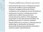 finanse publiczne a finanse prywatne