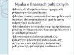 nauka o finansach publicznych1