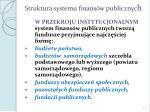 struktura systemu finans w publicznyc h
